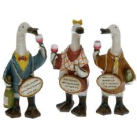 Complete Set of 3 Wine Loving Davids Duck Ornaments